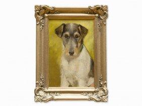 Alfred Weczerzick, Dog Portrait Of Fox Terrier 'lady',