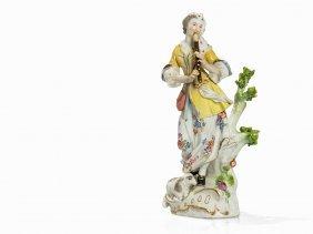 Meissen, Shepherdess With Flute & Lamb, Model