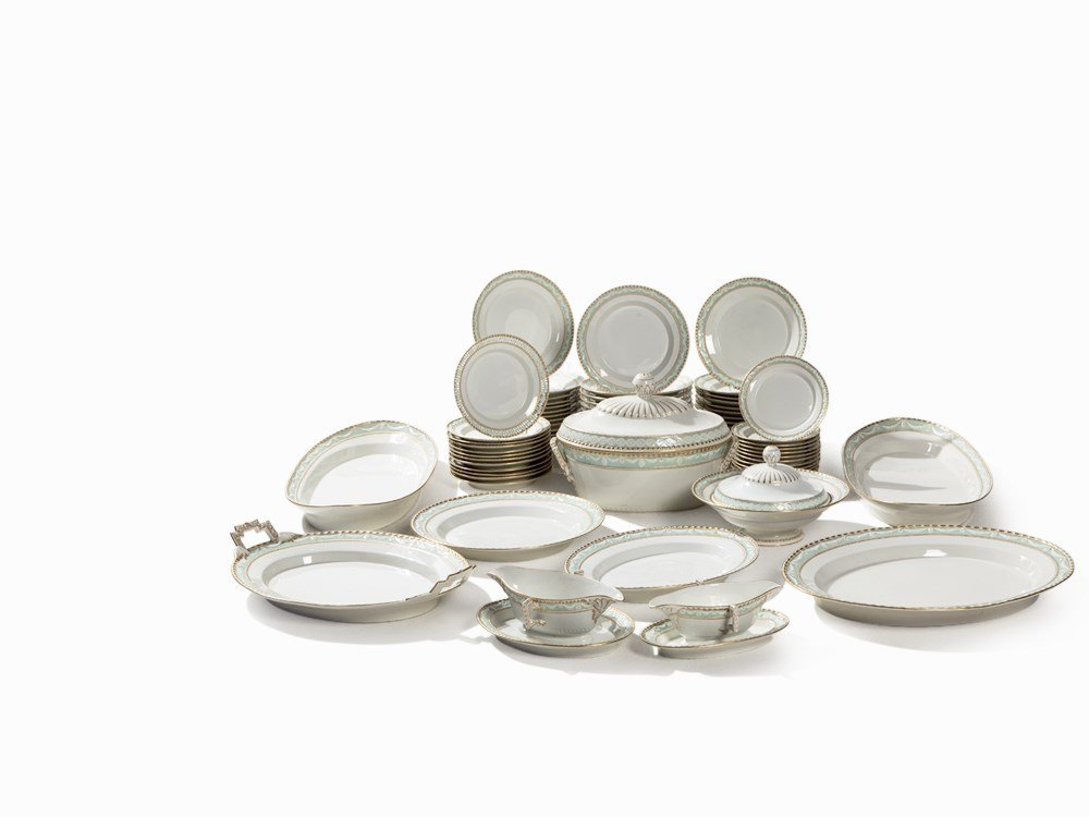 KPM, 73-Pcs. Table Service 'Kurland', Porcelain, 1st Q.