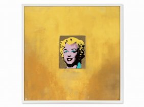 After Andy Warhol, Marilyn (gold), Porcelain, Wall