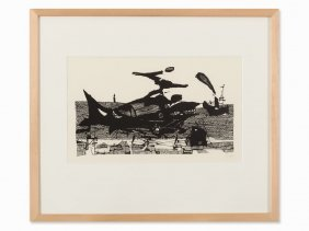 Horst Janssen, Moby Dick, Lithograph, 1957