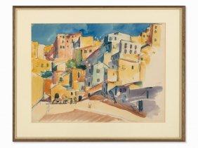 Wolf Röhricht (1886-1953), Agrigento, Watercolor, 1920