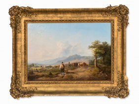 H. Marr (1807-1871), Cattle Drive Up To Alpine