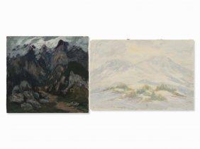 Frank Herrmann (1866-1942), 2 Landscapes, Gouache, C.
