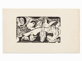 Paul Gauguin, Soyez Amoureuses, Woodcut, 1898