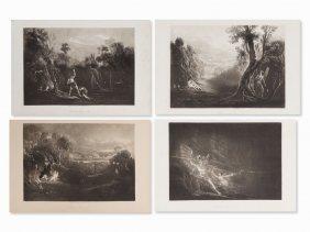 John Martin, For 'paradise Lost', 5 Mezzotints, 1827