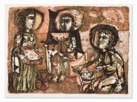 Antoni Clavé, Les Trois Maries, Color Lithograph, 1952