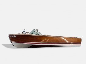 "Riva ""super Florida"" Mahogany Motorboat, With Trailer,"