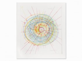 Damien Hirst, Twist And Shout, Etching In Colors, 2002