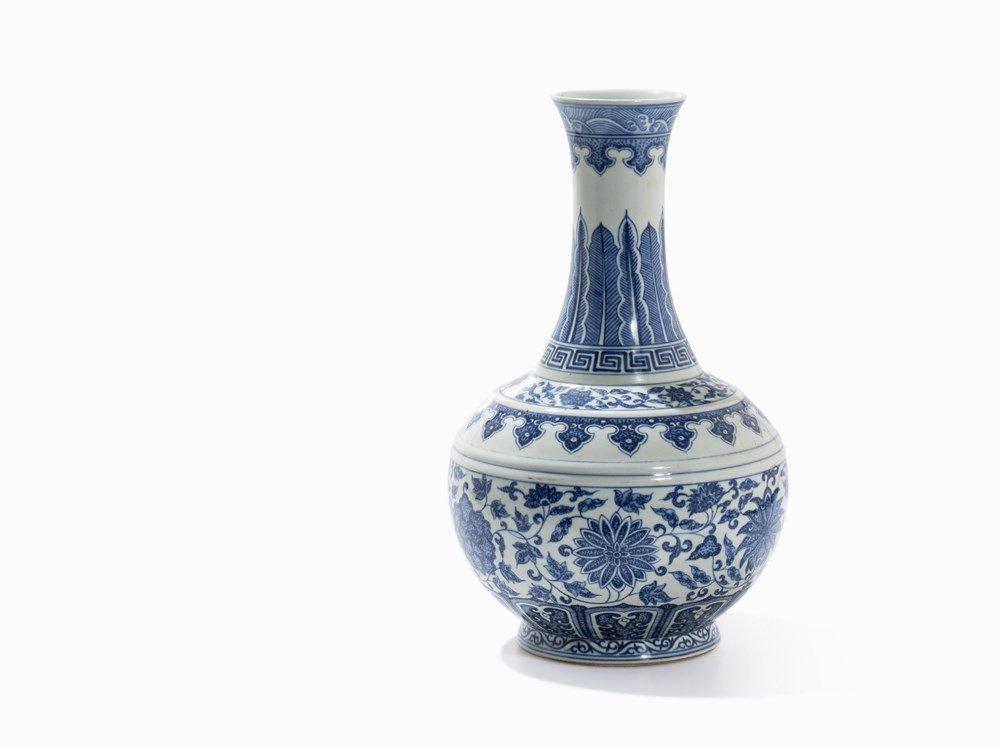 Large Blue-and-White Bottle Vase, Xianfeng Mark &