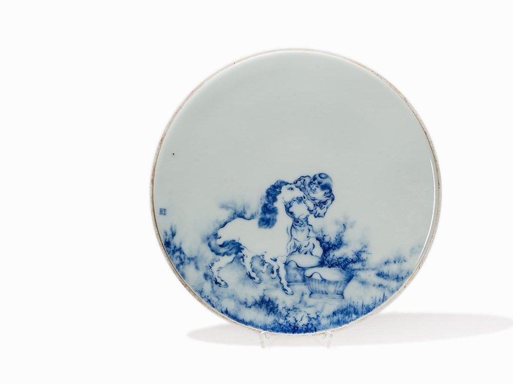Wang Bu (1898-1968) attr., Blue-and-White Porcelain