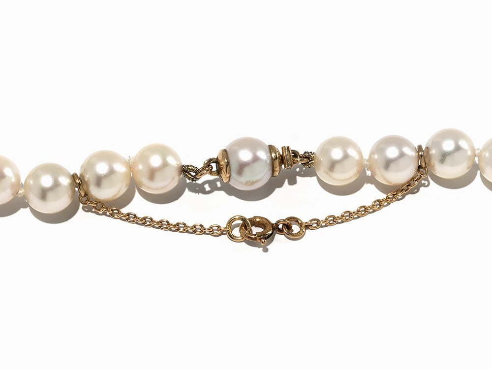 Cartier Akoya Pearl Necklace with Leopard Pendant, 18K - 6