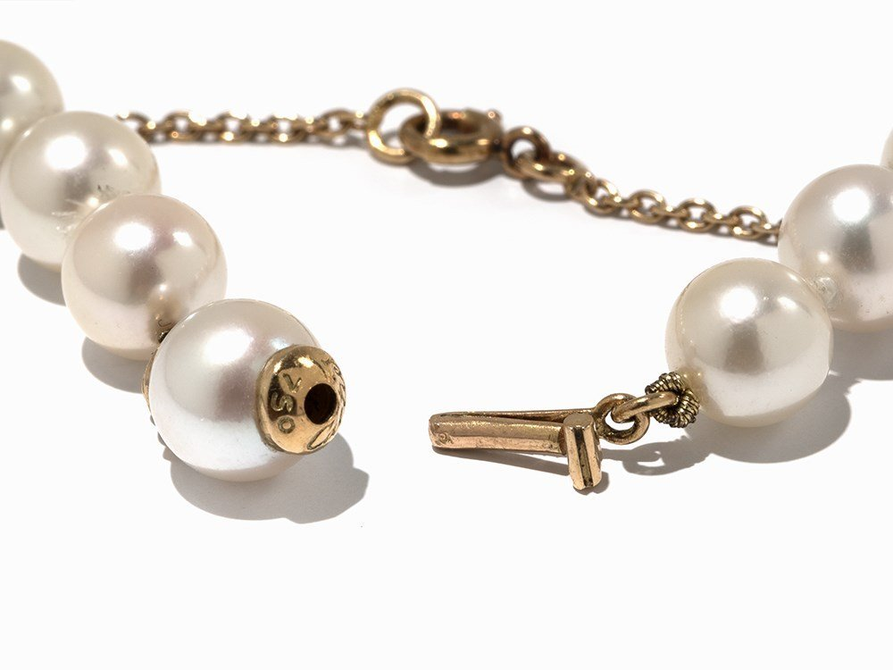 Cartier Akoya Pearl Necklace with Leopard Pendant, 18K - 7