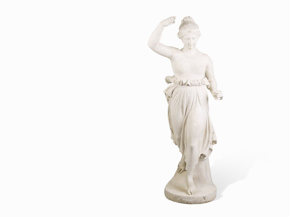 Marble Sculpture Of A Classical Lady, France, 19th
