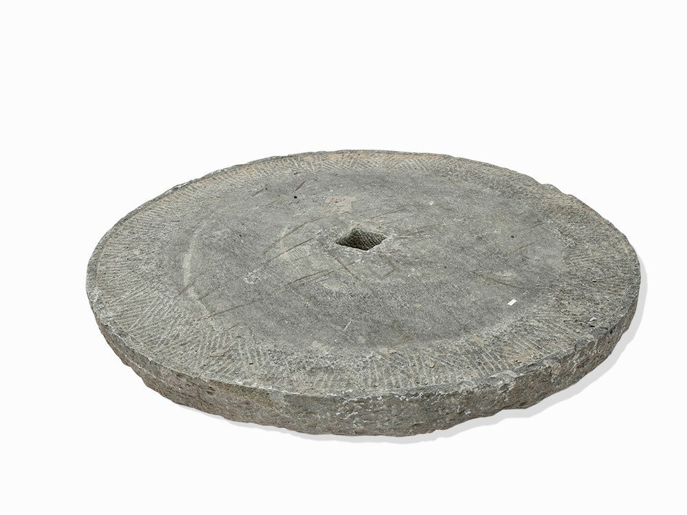 A Large Original Millstone Made of Granit