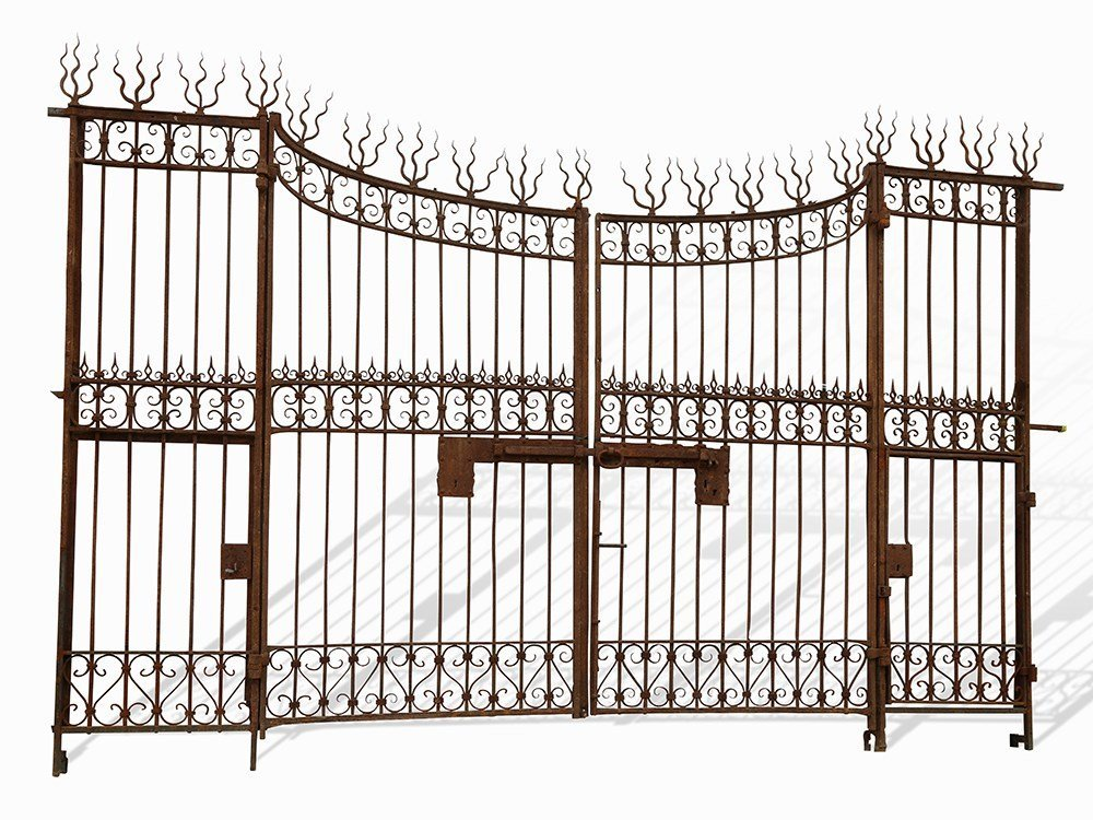 Large Wrought Iron Gate of a Castle, Italy, Early 19th