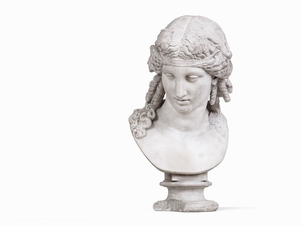 A Marble Bust After a Greek Model, Italy, 19th C.