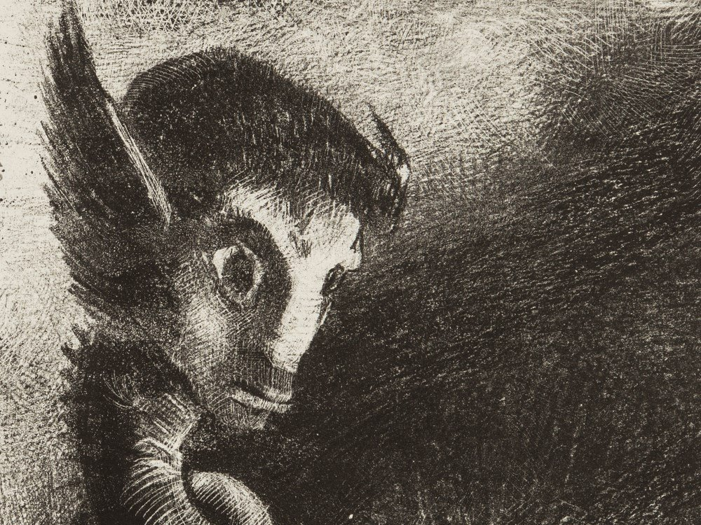 Odilon Redon, La Chimère regarda avec effroi,