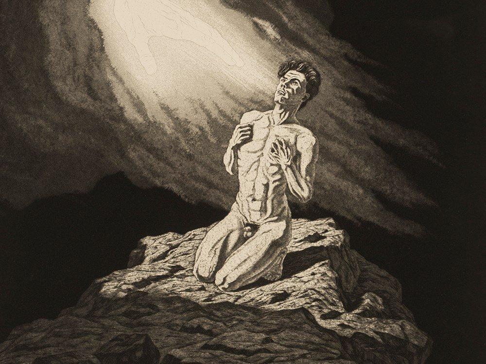 """Fritz Schwimbeck, Apokalypse: """"Siegel"""", Etching, 1st H."""