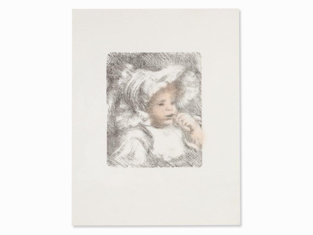 Pierre-Auguste Renoir, L'Enfant au Bisquit, Lithograph,