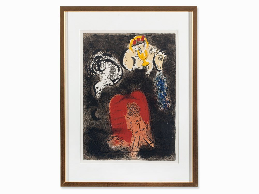 Marc Chagall, Color Lithograph, 'The Story of Exodus',