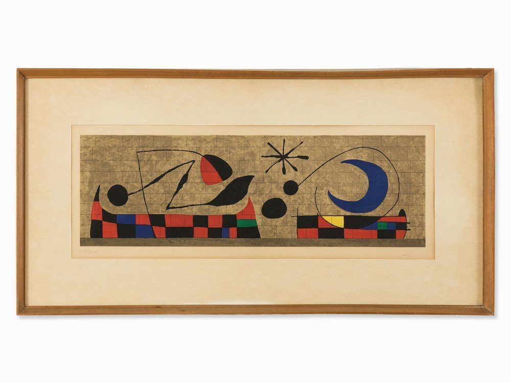 Joan Miró, Mur de la Lune, Lithograph in Colors, 1958
