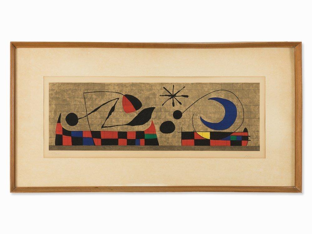 Joan Miró, Mur de la Lune, Lithograph in Colors, 1958