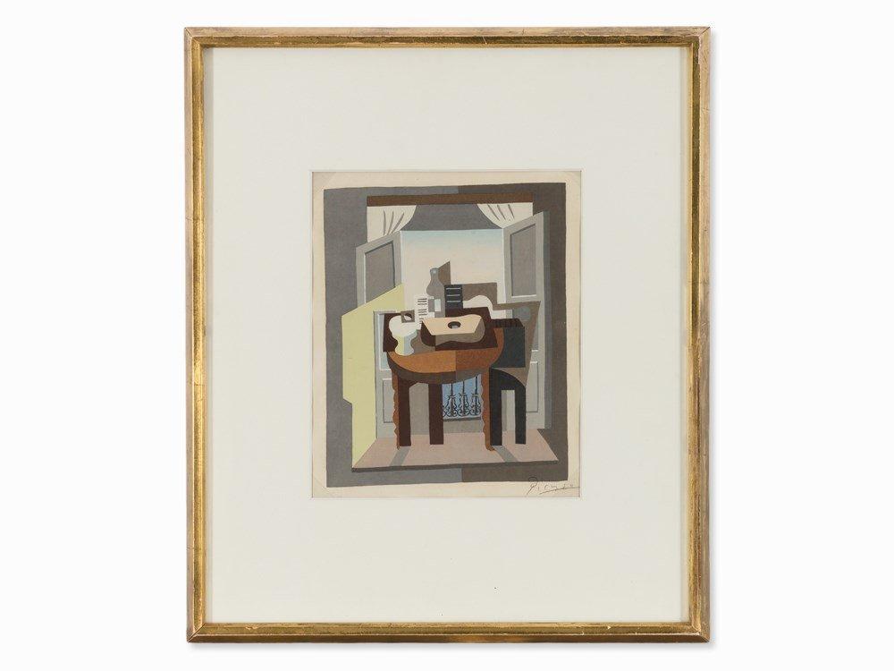 After Pablo Picasso, Compotier, Partition et Guitare,