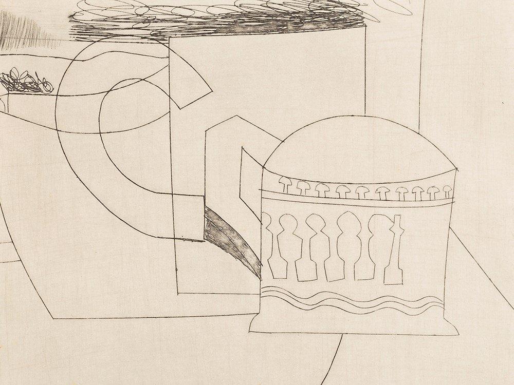 Ben Nicholson, Small Still Life, Etching, 1967