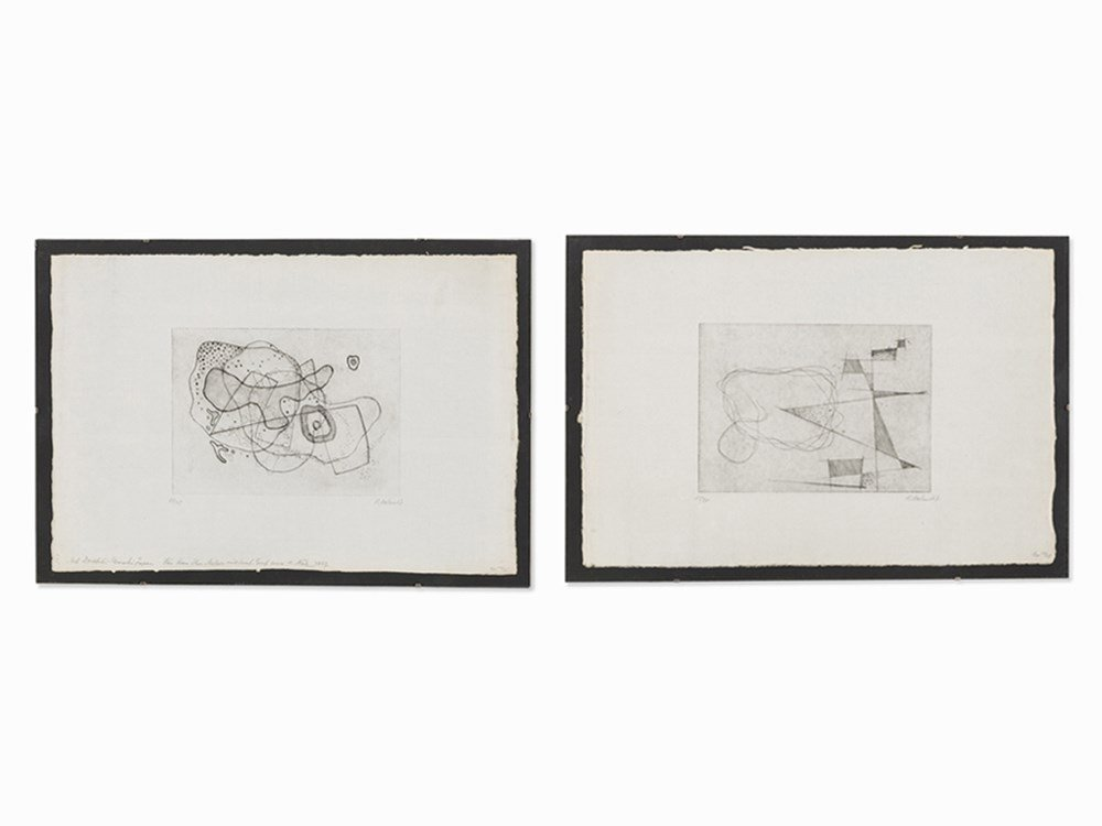 Rudolf Jahns, Compositions, 2 Etchings, 1967