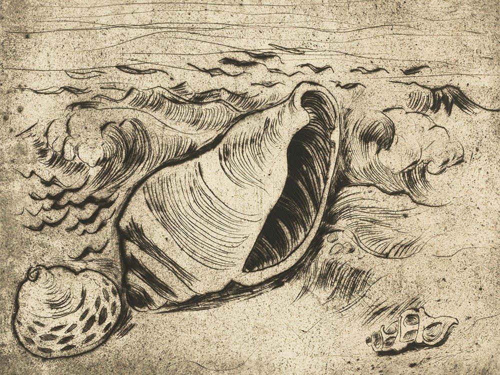 Otto Pankok, Muscheln, Drypoint, 1927