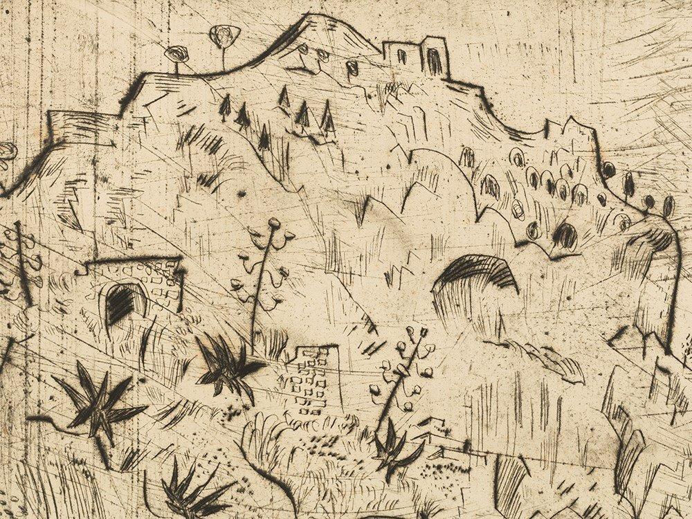 Otto Pankok, Steile Küste, Drypoint, 1924