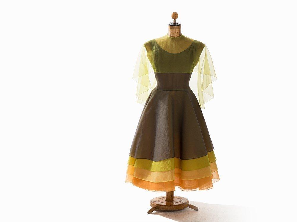 Madame Grès, Multilayer Cocktail Dress, France, 1950s