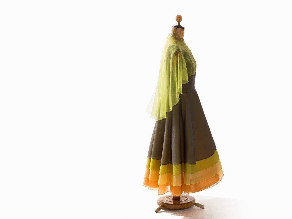 Madame Grès, Multilayer Cocktail Dress, France, 1950s - 5