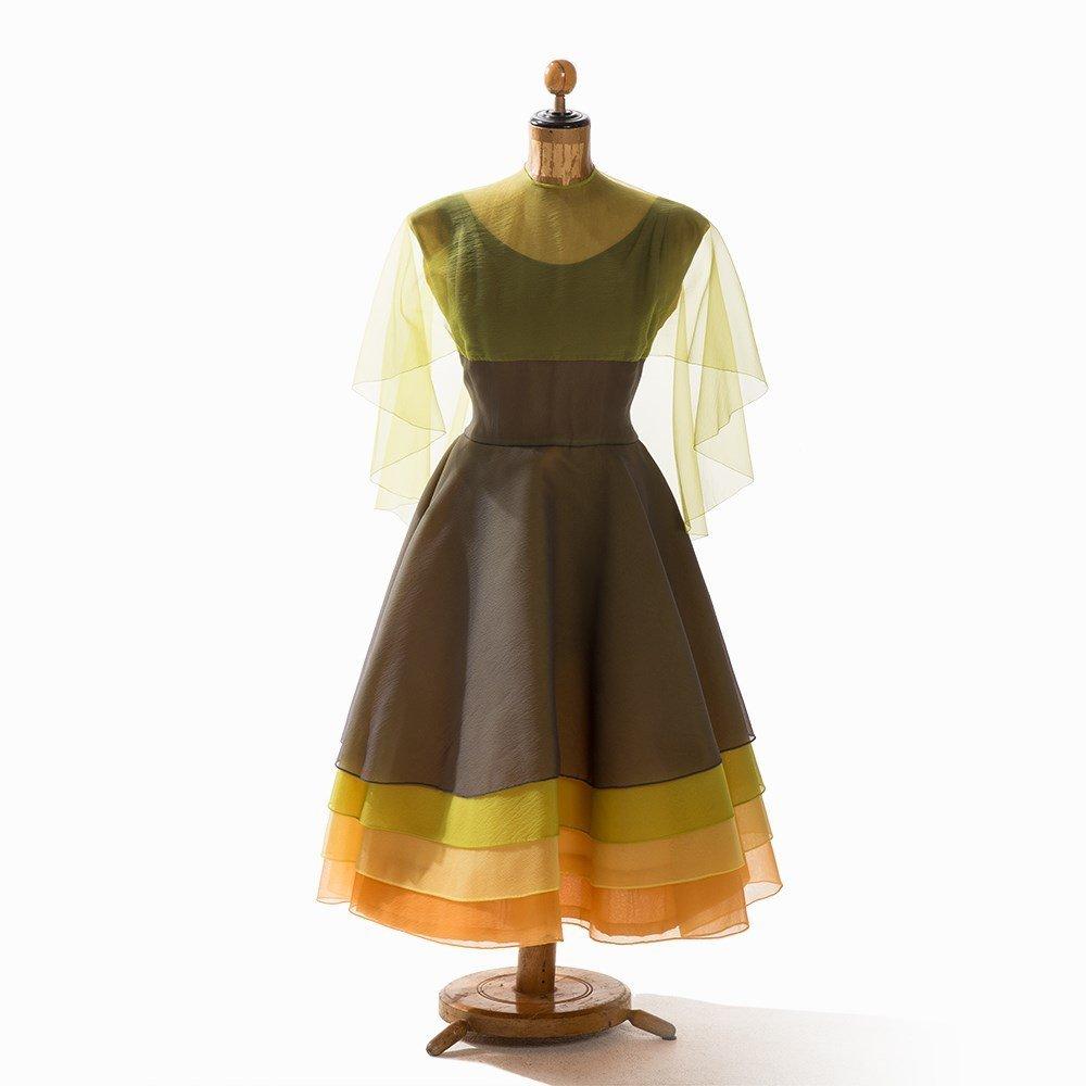 Madame Grès, Multilayer Cocktail Dress, France, 1950s - 8