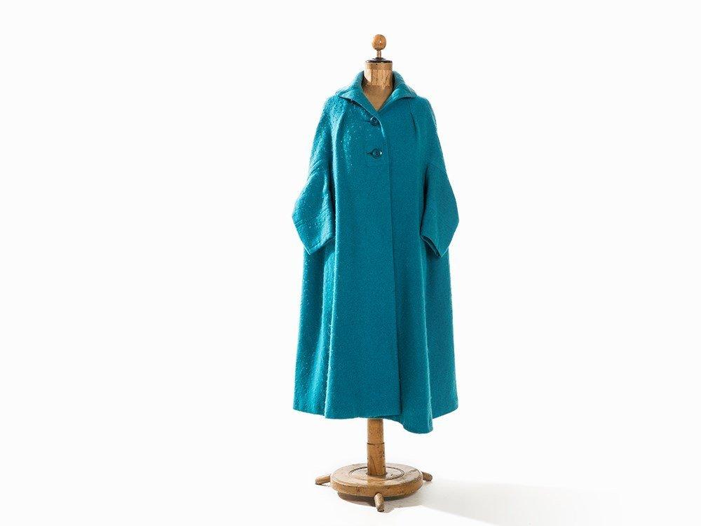 Madame Grès, Trapeze-Shaped Coat, France, Mid-20th C.
