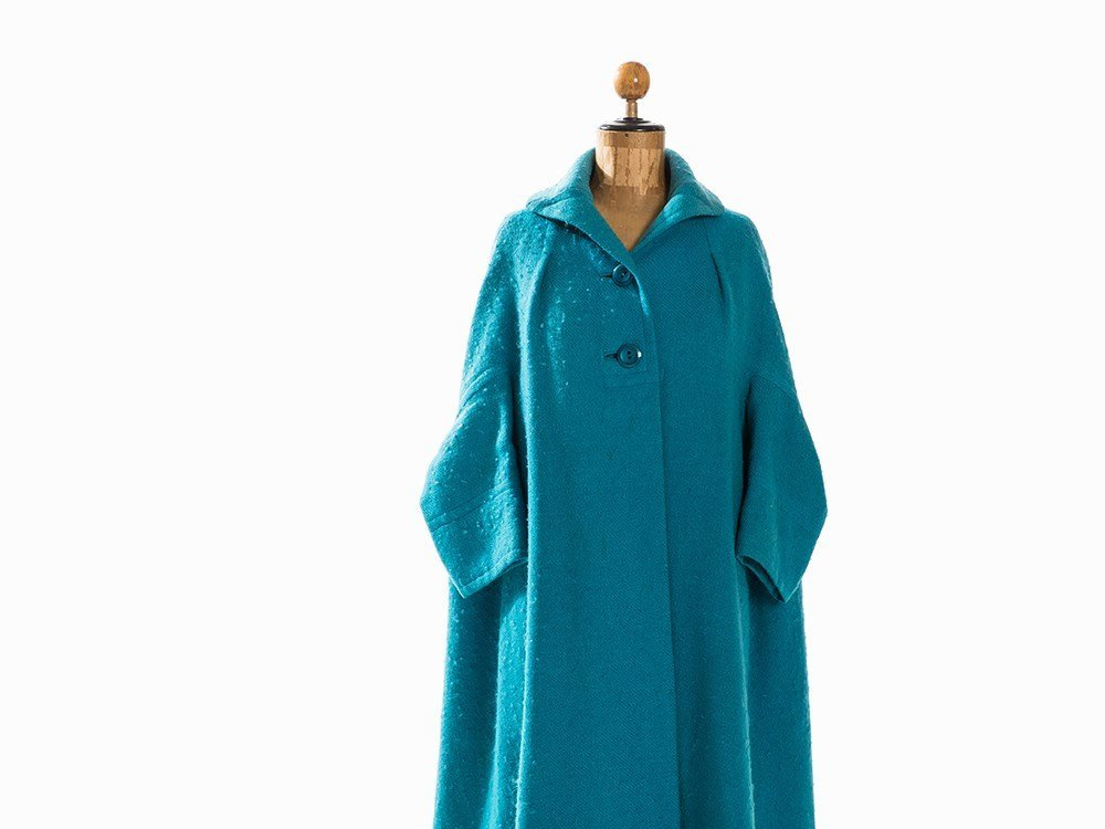 Madame Grès, Trapeze-Shaped Coat, France, Mid-20th C. - 2