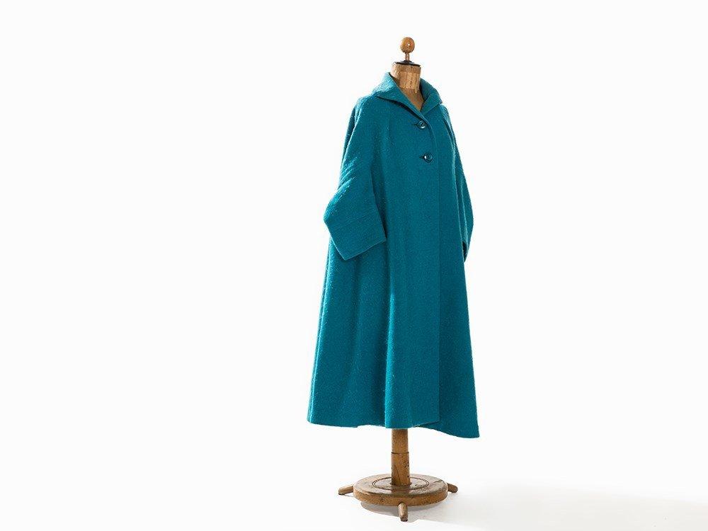Madame Grès, Trapeze-Shaped Coat, France, Mid-20th C. - 7