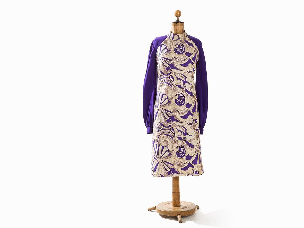 Madame Grès, Afternoon Dress with Brocade, France,