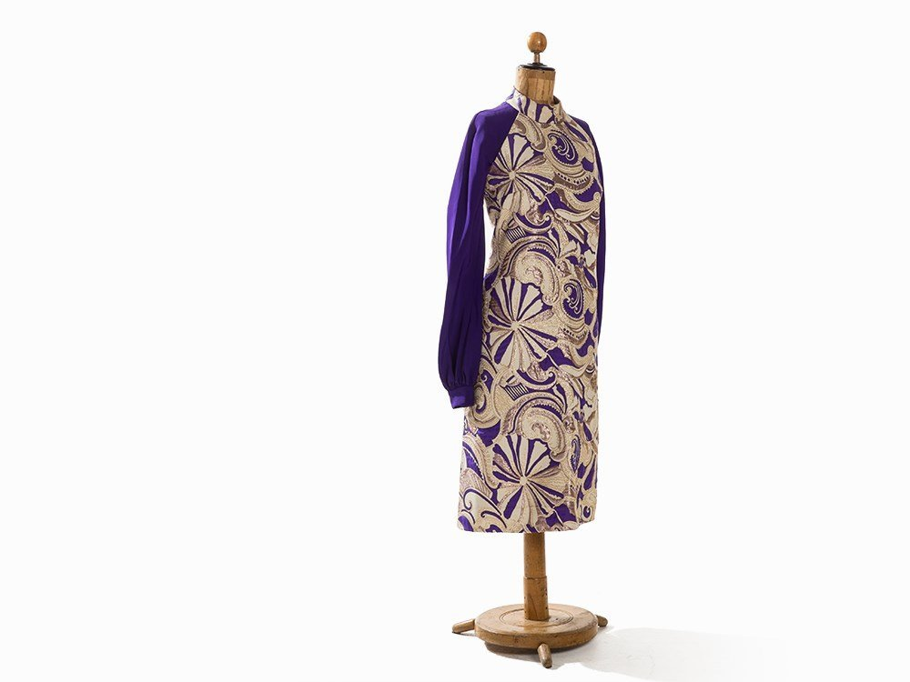 Madame Grès, Afternoon Dress with Brocade, France, - 4
