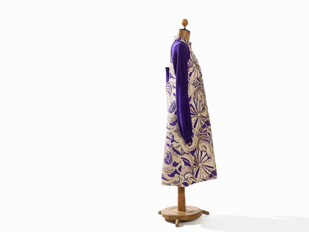 Madame Grès, Afternoon Dress with Brocade, France, - 6