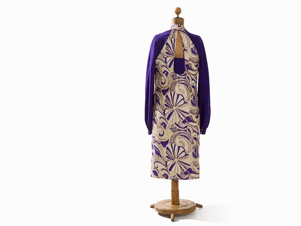 Madame Grès, Afternoon Dress with Brocade, France, - 9