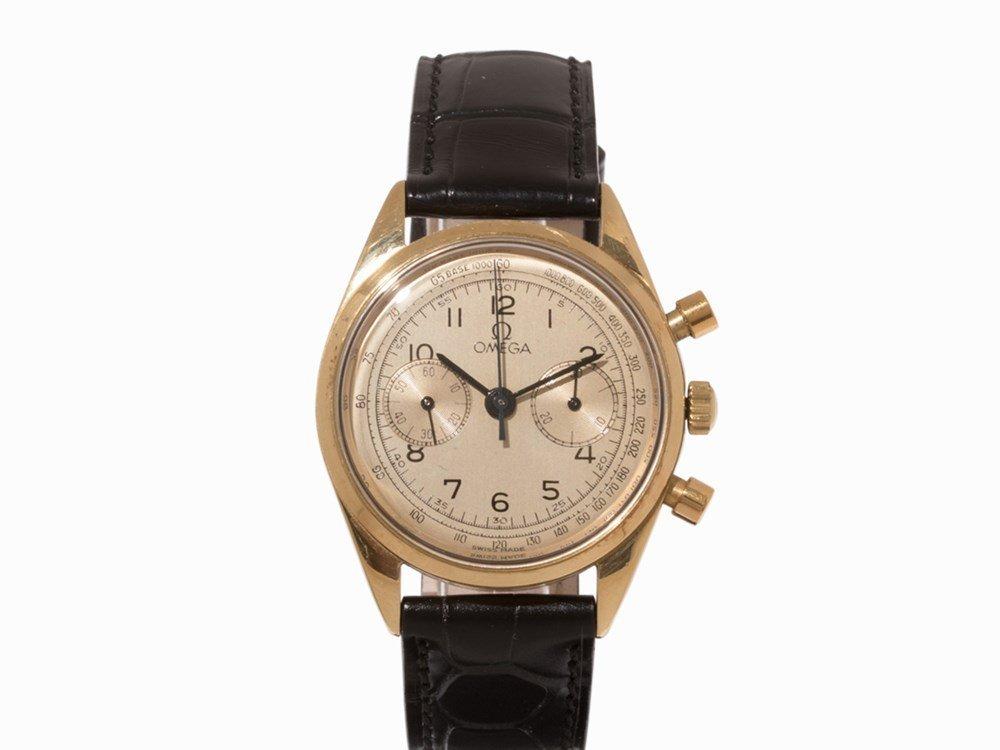 Omega Gold Chronograph, Switzerland, c. 1955