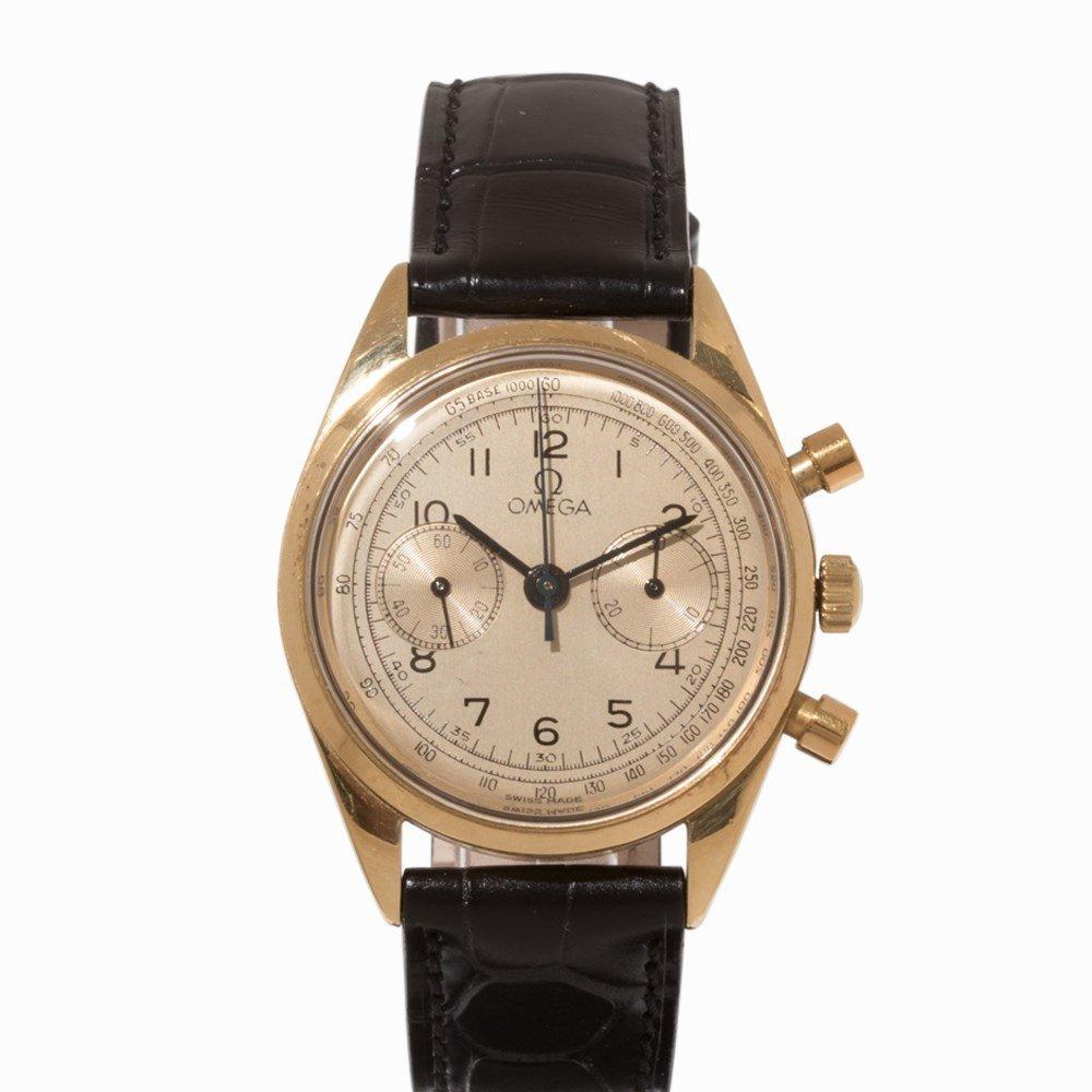 Omega Gold Chronograph, Switzerland, c. 1955 - 8