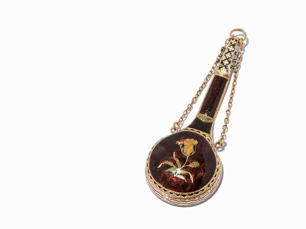 Exquisite Gold Mandolin Watch as Pendant, c. 1850 - 7