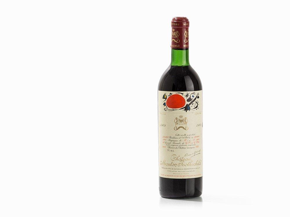 1 Bottle 1969 Château Mouton Rothschild, Pauillac