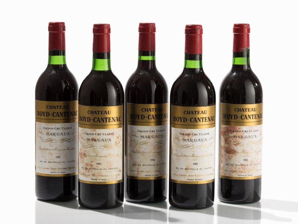 5 Bottles 1982 Château Boyd-Cantenac, Margaux