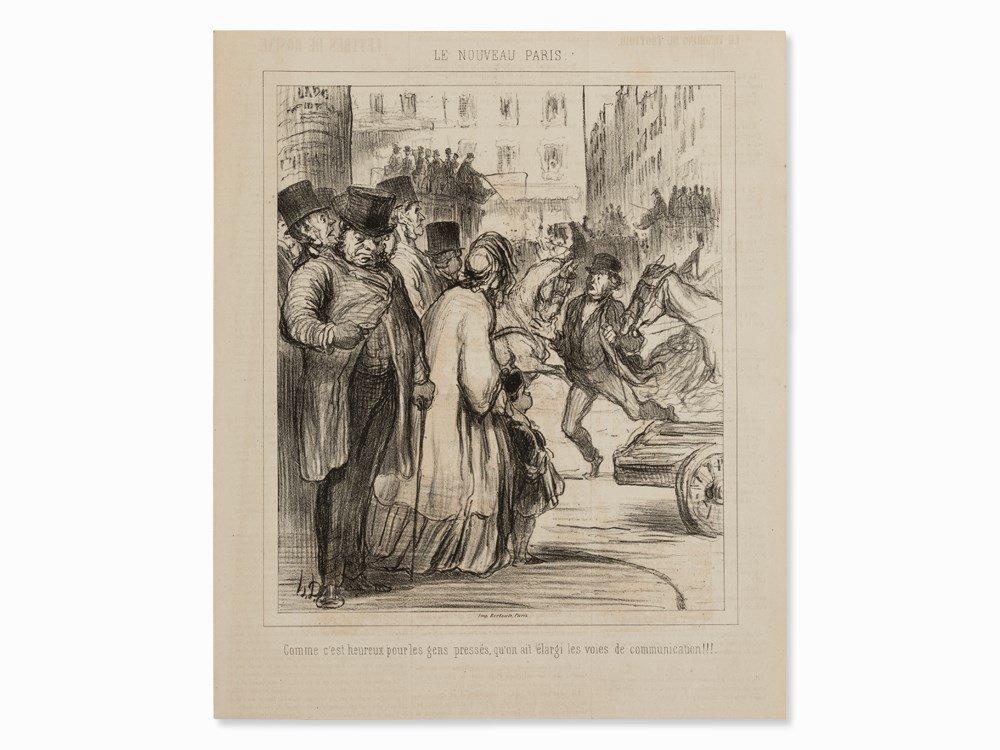 Honor Daumier, Le Nouveau Paris, Lithograph, 1862
