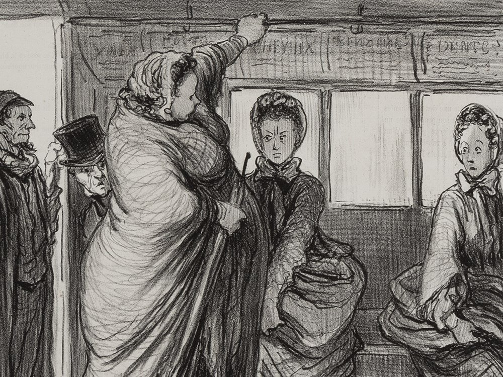 Honor Daumier, Madeleine-Bastille, Lithograph, 1862
