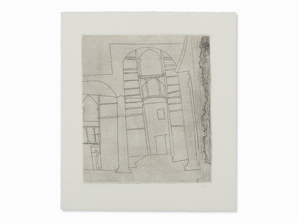 Ben Nicholson, Siena (Large Version), Drypoint, 1965